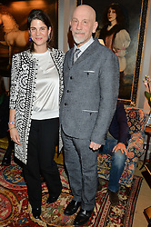 KATRINA PAVLOS and JOHN MALKOVICH at a private screening of 'A Postcard From Istanbul' directed by John Malkovich In Collaboration With St. Regis Hotels & Resorts held at 5 Hertford Street, London on 3rd March 2015