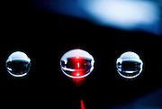 Laser Light reflection on black background