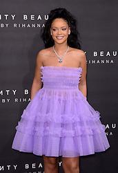 Rihanna arriving at the Fenty Beauty By Rihanna Party, Harvey Nichols, Knightsbridge, London. Photo credit should read: Doug Peters/EMPICS Entertainment