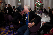 URSULA FLANERY; PHILIP TREACY, , Liberatum 10th Anniversary dinner in honour of Sir Peter Blake. Hosted by Pable Ganguli and Ella Krasner. The Corinthia Hotel, Whitehall. London. 23 November 2011.