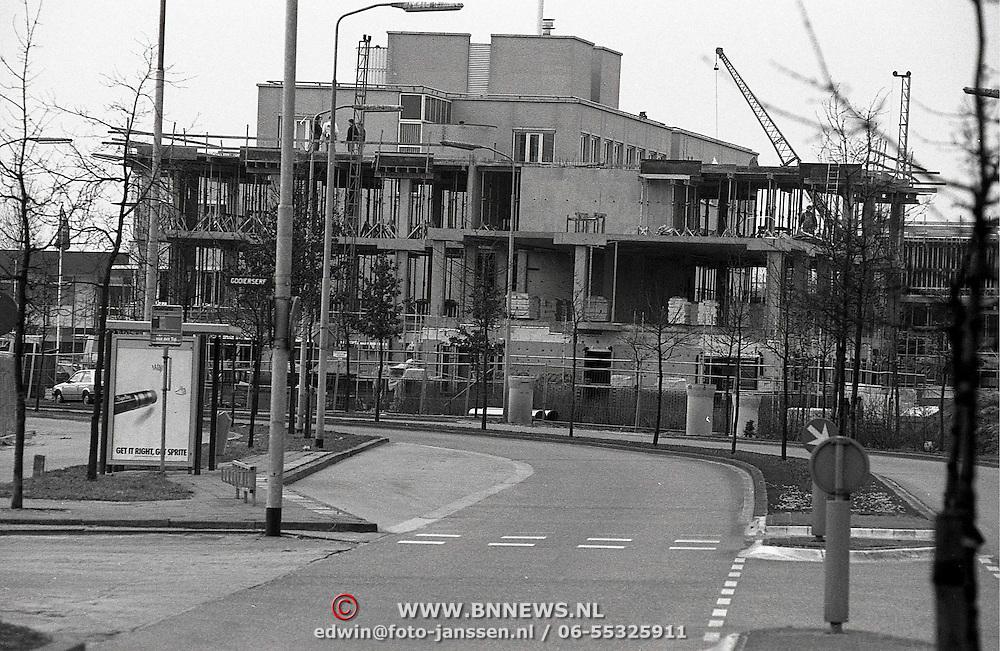NLD/Huizen/19910304 - Bouwwerkzaamheden aan de Gooierserf Huizen