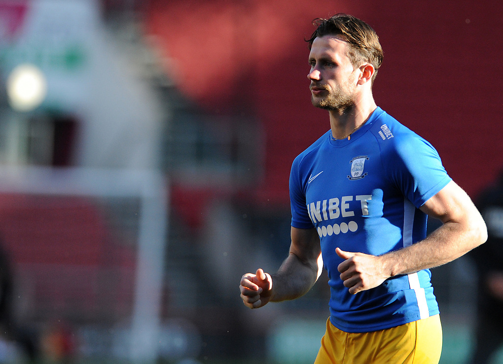 Preston North End's Alan Browne during the pre-match warm-up <br /> <br /> Photographer Ian Cook/CameraSport<br /> <br /> The EFL Sky Bet Championship - Bristol City v Preston North End - Wednesday July 22nd 2020 - Ashton Gate Stadium - Bristol <br /> <br /> World Copyright © 2020 CameraSport. All rights reserved. 43 Linden Ave. Countesthorpe. Leicester. England. LE8 5PG - Tel: +44 (0) 116 277 4147 - admin@camerasport.com - www.camerasport.com