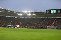 Football - 2017 / 2018 Premier League - Southampton vs. Tottenham Hotspur<br /> <br /> Both sides join in the minutes applause for Cyrille Regis at St Mary's Stadium Southampton<br /> <br /> COLORSPORT/SHAUN BOGGUST