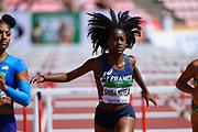 Cyrena Samba-Mayela (FRA) competes in 100 Metres Hurdles during the IAAF World U20 Championships 2018 at Tampere in Finland, Day 5, on July 14, 2018 - Photo Julien Crosnier / KMSP / ProSportsImages / DPPI