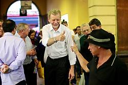 José Fortunati e Sebastião Melo durante visita ao Mercado Público de Porto Alegre. FOTO: Jefferson Bernardes/Preview.com