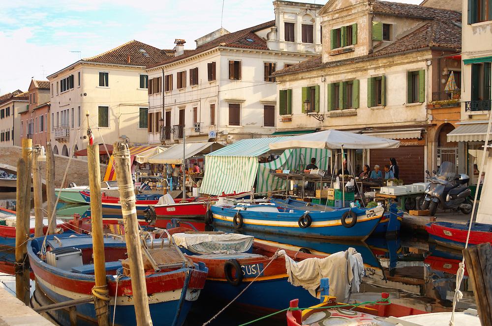 Fishing Boats on Riva Vena canal - Chioggia - Venice - Italy