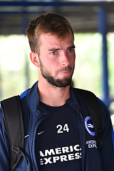 "Brighton & Hove Albion's Davy Propper arrives ahead of the pre-season friendly match at the St Andrew's Trillion Trophy Stadium, Birmingham. PRESS ASSOCIATION Photo. Picture date: Saturday July 28, 2018. See PA story SOCCER Birmingham. Photo credit should read: Anthony Devlin/PA Wire. RESTRICTIONS: EDITORIAL USE ONLY No use with unauthorised audio, video, data, fixture lists, club/league logos or ""live"" services. Online in-match use limited to 75 images, no video emulation. No use in betting, games or single club/league/player publications."