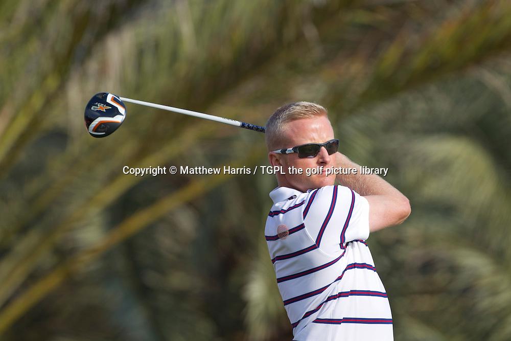Simon DYSON (ENG) during first round HSBC Abu Dhabi Championship 2014,Abu Dhabi Golf Club,Abu Dhabi,UAE.