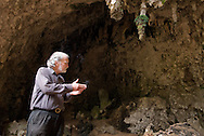 Mike Morwood makes a point at Liang Bua cave, discovery site of Homo floresiensis, aka the Flores hobbit.