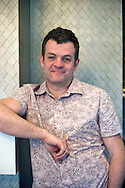 Playwright Jonathan Harvey, pictured in Chester during a break in a 'Coronation Street' script meeting. Harvey, born 1968, is a British playwright whose work has earned multiple awards. He is also a former secondary school English teacher.