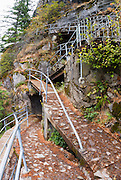 The winding trail to the top of Beacon Rock, Beacon Rock State Park, Washington