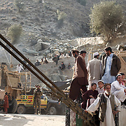 Leaving the village of Nari after the demonstration to Afghan women on setting up water filtration systems, Kunar Province of Eastern Afghanistan.