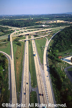 Southcentral Pennsylvania, aerial photographs, Interstate 81 and Rt 322, Highway Intersection, Harrisburg, Dauphin Co., PA