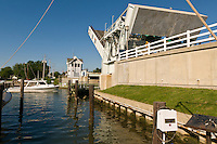 Knapps Narrows Drawbridge, the busiest drawbridge in the United States,Tilghman Island, Maryland USA