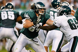 Philadelphia Eagles offensive tackle Chris Patrick #64 during the Philadelphia Eagles NFL Flight Night at Lincoln Financial Field in Philadelphia, Pennsylvania on Sunday August 2nd 2009. (Photo by Brian Garfinkel)