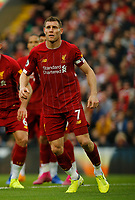 Football - 2019 / 2020 Premier League - Liverpool vs. Leicester City<br /> <br /> James Milner of Liverpool, at Anfield.<br /> <br /> COLORSPORT/ALAN MARTIN
