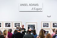 Helena photographer Kenton Rowe answering a question during a 2013 Ansel Adams lecture at the Holter Museum of Art in Helena, MT