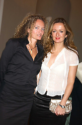 Left to right,STEPHANIE THEOBALD social editor of Harpers & Queen and LUCY YEOMANS editor of Harpers & Queen at the Bruce Oldfield Crimestoppers Party held at Spencer House, 27 St.James's Place, London SW1 on 22nd September 2005.<br /><br />NON EXCLUSIVE - WORLD RIGHTS