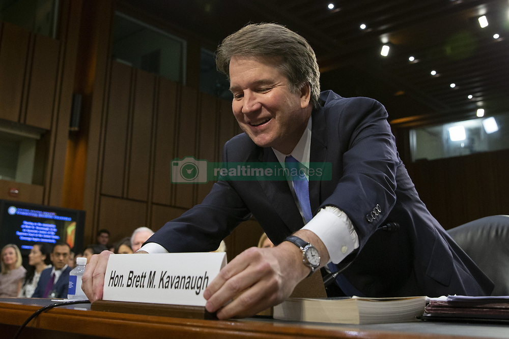 September 6, 2018 - Washington, District of Columbia, U.S. - Judge BRETT KAVANAUGH arrives prior to a hearing before the United States Senate Judiciary Committee on his nomination as Associate Justice of the US Supreme Court to replace the retiring Justice Anthony Kennedy on Capitol Hill. (Credit Image: © Alex Edelman/CNP via ZUMA Wire)