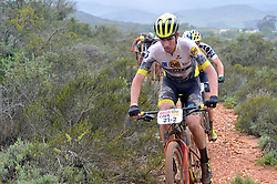 WORCESTER, SOUTH AFRICA - MARCH 21: Luis Leao Pinto during stage three's 122km from Robertson to Worcester on March 21, 2018 in Cape Town, South Africa. Mountain bikers from across South Africa and internationally gather to compete in the 2018 ABSA Cape Epic, racing 8 days and 658km across the Western Cape with an accumulated 13 530m of climbing ascent, often referred to as the 'untamed race' the Cape Epic is said to be the toughest mountain bike event in the world. (Photo by Dino Lloyd)