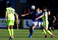 Jamie Proctor of Carlisle United takes on Jordan Moore-Taylor of Exeter City - Mandatory by-line: Robbie Stephenson/JMP - 14/05/2017 - FOOTBALL - Brunton Park - Carlisle, England - Carlisle United v Exeter City - Sky Bet League Two Play-off Semi-Final 1st Leg