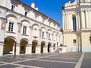 View of the Vilnius University Courtyard, in Senamiestyje/Old Town, Vilnius, Lithuania