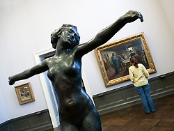 Sculpture inside gallery in Alte Nationalgalerie on Museumsinsel in Berlin Germany