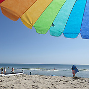 A beach scene in the height of summer on Cisco Beach, Nantucket, Nantucket Island, Massachusetts, USA. Photo Tim Clayton
