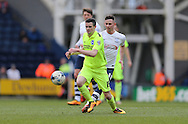 Brighton winger, Jamie Murphy (15) during the Sky Bet Championship match between Preston North End and Brighton and Hove Albion at Deepdale, Preston, England on 5 March 2016.