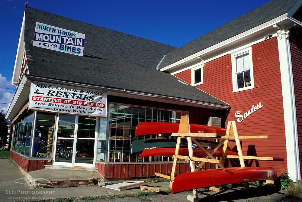 Greenville, ME. Northern Forest. Recreation. A canoe  kayak & mountain bike rental store.