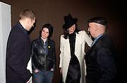 Paul Simenon, Sue Webster, Trish Simenon and Stephen Jones, Manolo Blahnik exhibition. Design Museum. 30 Dafydd Jones 66 Stockwell Park Rd. London SW9 0DA Tel 020 7733 0108 www.dafjones.com