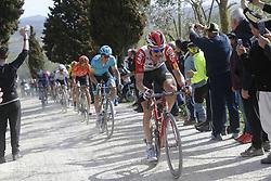 March 9, 2019 - Siena, Italy - Belgian Tim Wellens of Lotto Souda rides the Strade Bianche one day cycling race in Siena, Italy, Saturday 09 March 2019...BELGA PHOTO YUZURU SUNADA (Credit Image: © Yuzuru Sunada/Belga via ZUMA Press)