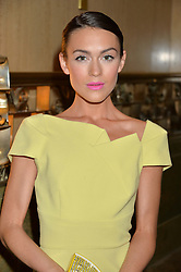 ELLA CATLIFF at the WGSN Global Fashion Awards 2015 held at The Park Lane Hotel, Piccadilly, London on 14th May 2015.