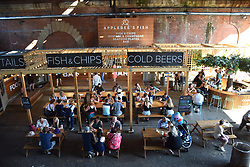 One of the many pop up bars & restaurants along the Southbank, London UK August 2019
