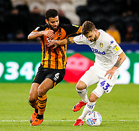 Leeds United's Mateusz Klich holds off the challenge from Hull City's Kevin Stewart<br /> <br /> Photographer Alex Dodd/CameraSport<br /> <br /> The EFL Sky Bet Championship - Hull City v Leeds United - Tuesday 2nd October 2018 - KC Stadium - Hull<br /> <br /> World Copyright © 2018 CameraSport. All rights reserved. 43 Linden Ave. Countesthorpe. Leicester. England. LE8 5PG - Tel: +44 (0) 116 277 4147 - admin@camerasport.com - www.camerasport.com