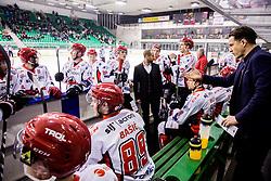 Gaber Glavic, coach of Jesenice during ice hockey match between  HK SZ Olimpija and HDD SIJ Acroni Jesenice in 23rd Round of AHL - Alps Hockey League 2017/18, on December 16, 2017 in Hala Tivoli, Ljubljana, Slovenia. Photo by Vid Ponikvar / Sportida