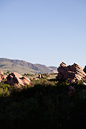 Red Rocks in the South Valley Park Ken-Caryl Ranch Open Space in Colorado at dawn. WATERMARKS WILL NOT APPEAR ON PRINTS OR LICENSED IMAGES.