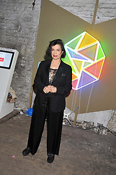 BIANCA JAGGER at the Contemporary Art Society's Gala evening held at the Farmiloe Buildings, St.John Street, London EC1 on 29th February 2012.