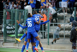 Cape Town-180224 Cape Town City players celebrating after Craig Martin scored in their PSL game in Athlone against Wits  Picture Ayanda Ndamane/African News Agency/ANA
