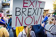 Photos © Joel Chant/ www.joelchant.com 20/10/18<br /> The People's Vote Pro EU demonstration, Westminster, London UK