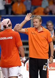22-09-2006 TENNIS: DAVIS CUP: NEDERLAND - TSJECHIE: LEIDEN <br /> Tjerk Bogtstra<br /> ©2006-WWW.FOTOHOOGENDOORN.NL
