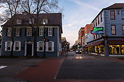 Downtown Charleston in evening light, South Carolina, USA.