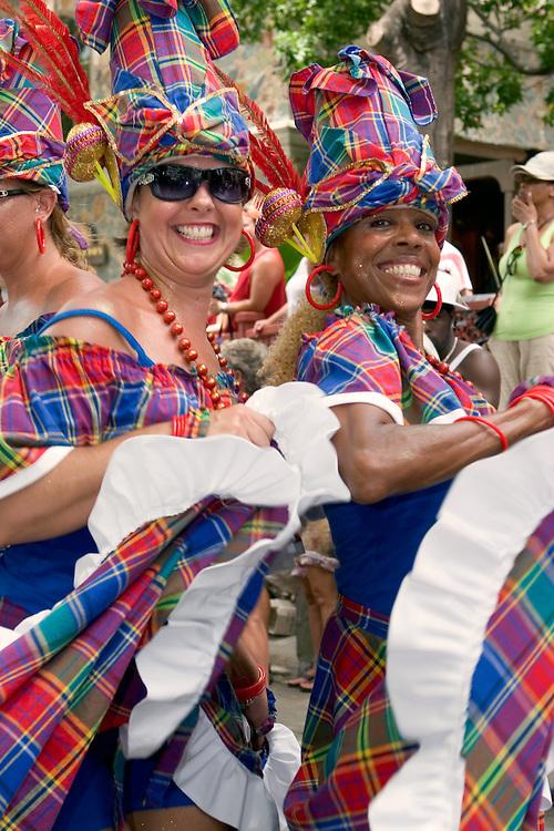 Dancers preforming in the Carnival Day parade in St. John, U.S. Virgin Islands.