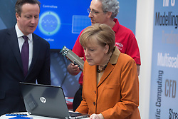 61191848<br /> Chancellor Angela Merkel and David Cameron during CeBIT 2014 Technology Trade Fair, Hanover, Germany, Monday, 10th March 2014. Picture by  imago / i-Images<br /> UK ONLY