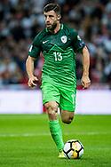 Slovenia (13)Bojan Jokić during the FIFA World Cup Qualifier match between England and Slovenia at Wembley Stadium, London, England on 5 October 2017. Photo by Sebastian Frej.
