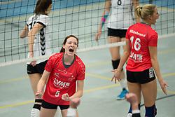 22-12-2012 VOLLEYBAL: USC MUENSTER - VT AURUBIS HAMBURG: MUENSTER<br /> Jubel Lonneke Sloetjes (#5 USC Muenster), Lea Hildebrand (#16 USC Muenster)<br /> ***NETHERLANDS ONLY***<br /> ©2012-FotoHoogendoorn.nl