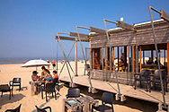 the beach pavilion Zeecafe near Oostkapelle on the peninsula Walcheren, Zeeland, Netherlands.<br /> <br /> der Strandpavillon Zeecafe bei Oostkapelle auf Walcheren, Zeeland, Niederlande.