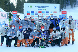 Team Germany during the IBU World Championships Biathlon 20km Individual Men competition on February 17, 2021 in Pokljuka, Slovenia. Photo by Primoz Lovric / Sportida
