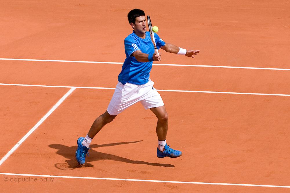 Paris, France. May 26th 2009. .Roland Garros - Tennis French Open. 1st Round..Serbian player Novak Djokovic against Nicolas Lapentti