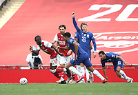 Football - 2020 Emirates 'Heads Up' FA Cup Final - Arsenal vs. Chelsea <br /> <br /> Nicolas Pepe (A) and Antonio Rudiger (C), at Wembley Stadium.<br /> <br /> The match is being played behind closed doors because of the current COVID-19 Coronavirus pandemic, and government social distancing/lockdown restrictions.